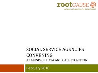 Social service agencies convening analysis of data and Call to action
