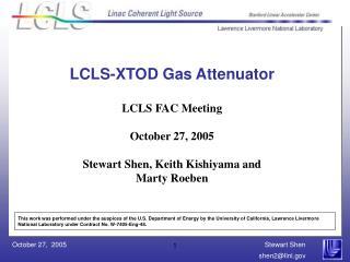 LCLS-XTOD Gas Attenuator