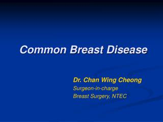 Common Breast Disease
