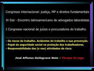 Congresso internacional: justi�a, MP e direitos fundamentais