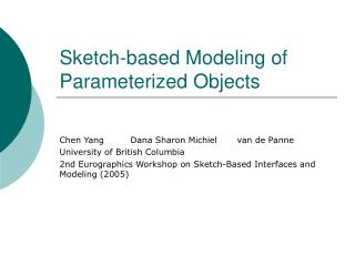 Sketch-based Modeling of Parameterized Objects