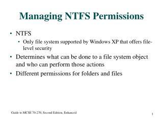 Managing NTFS Permissions