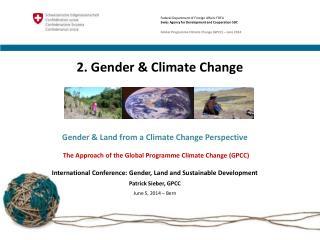 2. Gender & Climate Change