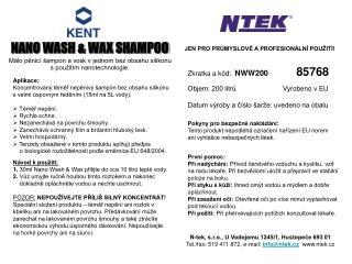 NANO WASH & WAX SHAMPOO