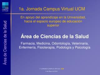 1a. Jornada Campus Virtual UCM