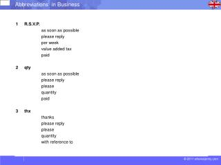 Abbreviations in business