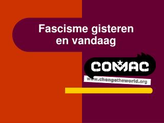 Fascisme gisteren en vandaag