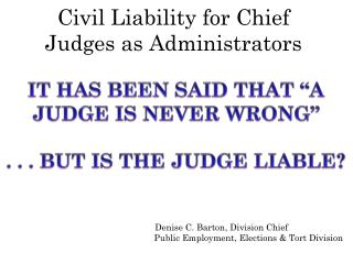 Civil Liability for Chief Judges as Administrators