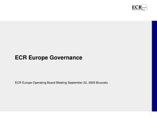 ECR Europe Governance