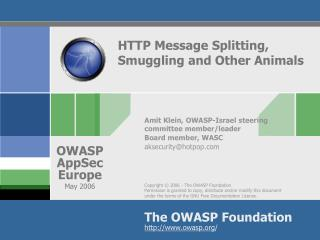 HTTP Message Splitting, Smuggling and Other Animals