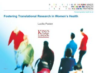 Fostering Translational Research in Women�s Health