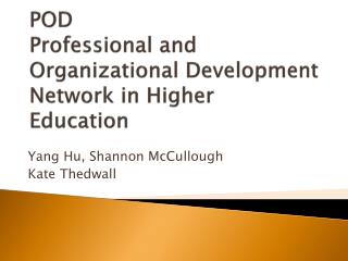 POD Professional and Organizational Development Network in Higher Education