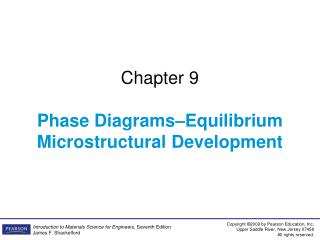 Chapter 9 Phase Diagrams�Equilibrium Microstructural Development
