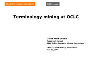 Terminology mining at OCLC