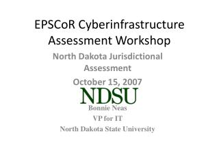 EPSCoR Cyberinfrastructure Assessment Workshop