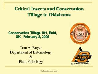 Critical Insects and Conservation Tillage in Oklahoma