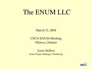 The ENUM LLC