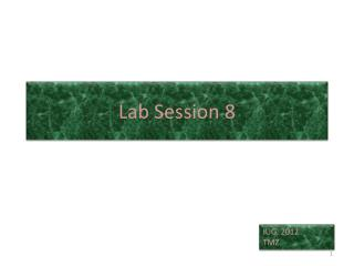 Lab Session 8