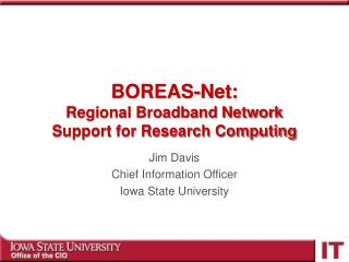 BOREAS-Net: Regional Broadband Network  Support for Research Computing