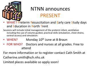 NTNN announces  PRESENT