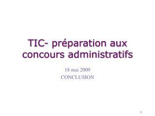 TIC- préparation aux concours administratifs