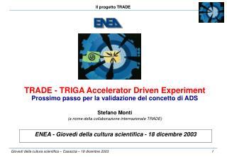 ENEA - Giovedì della cultura scientifica - 18 dicembre 2003