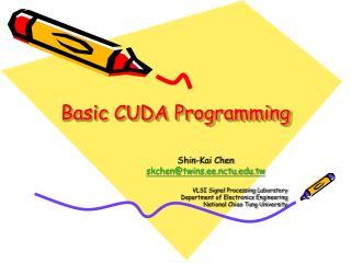 Basic CUDA Programming