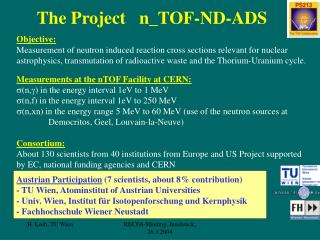 The Project   n_TOF-ND-ADS