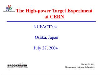 The High-power Target Experiment  at CERN