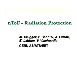 nToF - Radiation Protection