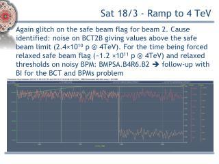 Sat 18/3 - Ramp to 4  TeV