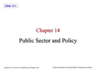 Chapter 14 Public Sector and Policy