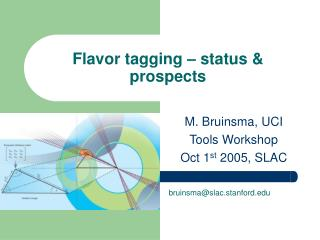 Flavor tagging – status & prospects