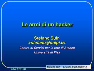 Le armi di un hacker