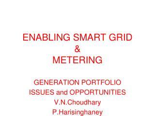 ENABLING SMART GRID  &  METERING