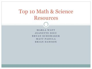 Top 10 Math & Science Resources