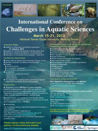 International Conference on  Challenges in Aquatic Sciences