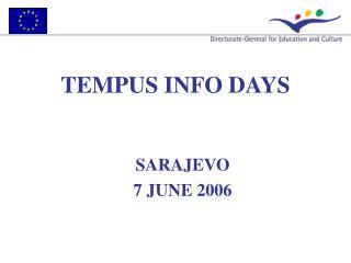 TEMPUS INFO DAYS