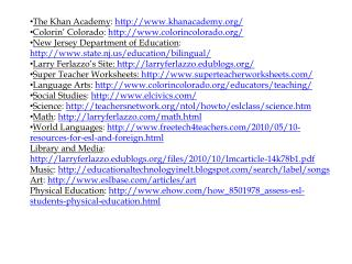 The Khan Academy :  khanacademy/