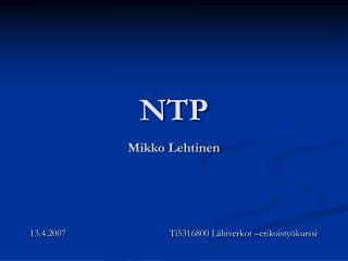 NTP Mikko Lehtinen