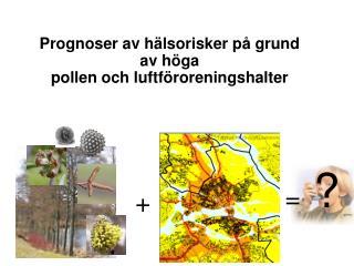 Prognoser av hälsorisker på grund av höga pollen och luftföroreningshalter
