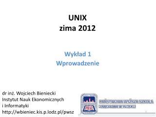 UNIX zima 2012