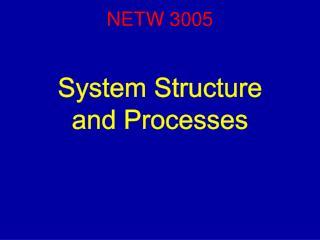 NETW 3005