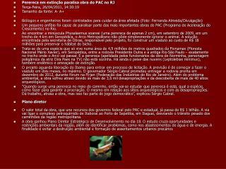 Perereca em extinção paralisa obra do PAC no RJ Terça-Feira, 26/04/2011, 14:30:19