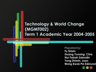 Technology  World Change