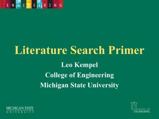 Literature Search Primer