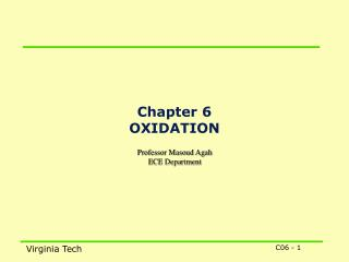 Chapter 6 OXIDATION