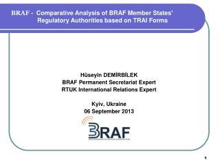 Hüseyin  DEMİRBİLEK BRAF Permanent Secretariat Expert RTUK International Relations Expert