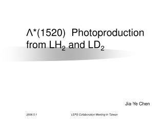 Λ *(1520)  Photoproduction from LH 2  and LD 2