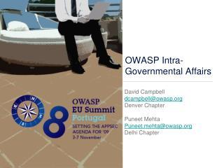 OWASP Intra-Governmental Affairs
